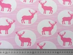 Jersey Hirsch im Kreis, rosa