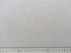 RESTSTÜCK 82 cm Jersey Pünktchen 2mm, taupe-weiß