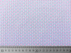 RESTSTÜCK 86 cm Jersey Kringel altrosa eisblau