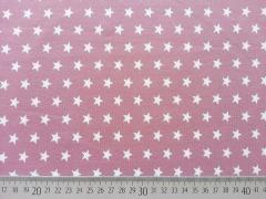 Jersey Sterne 1 cm, altrosa-weiß