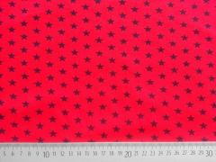 Jersey Shimmering Stars  - dunkelblau auf rot