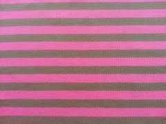 RESTSTÜCK 85cm Streifenjersey 1 cm - pink/taupe