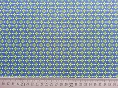 Baumwolle Kreuzblümchen, hellgrün auf petrol