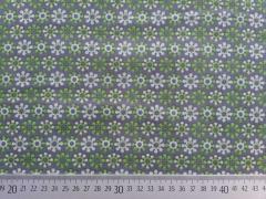 Lovely Grey Blumenmuster limette auf grau