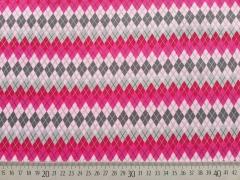 Lovely Grey - Rautenmuster pink/rosa af grau