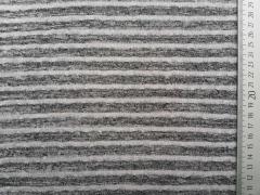 Leichter Strick Streifen, dunkelgrau hellgrau