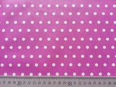 beschichtete Baumwolle Punkte 6mm, weiß erika