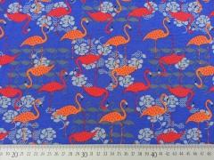 Megan Blue Jersey Flamingo, royalblau