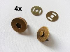 4 Magnetknöpfe rund 18 mm, messing
