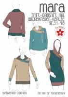 Schnittmuster Shirt mit Wickelkragen Mara Farbenmix