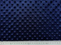 Minky Fleece Punkte - dunkelblau