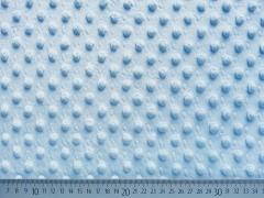 Minky Fleece Punkte, hellblau