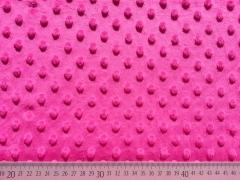 Minky Fleece Punkte - pink