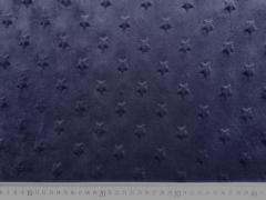 Minky Sternchen - dunkelblau