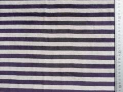 RESTSTÜCK 90 cm Nicki Stoff Streifen 12mm, dunkelblau beige