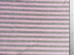 RESTSTÜCK 20 cm Nicki Streifen 12mm, rosa/grau