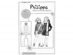 Schnittmuster Mädchen Softshelljacke Philippa Farbenmix