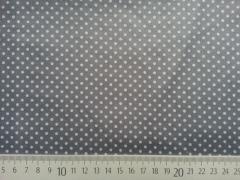 RESTSTÜCK 32 cm beschichtete Punkte 2mm, hellgrau auf dunkelgrau