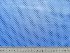 beschichtete Baumwolle Punkte 2mm, jeansblau hellblau