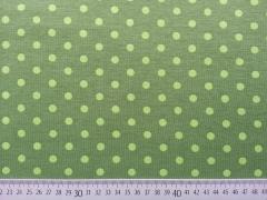 Jersey Punkte 0,7cm - limette auf oliv