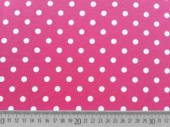 Jersey Punkte 0,8 cm - weiss auf pink