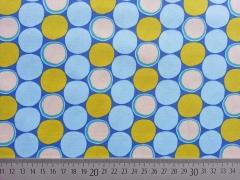 BW bunte Punkte auf blau
