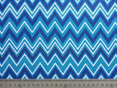 Feincord Zickzack Robert Kaufman Cool Cords, blau petrol weiß