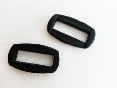 2 abgerundete eckige Ringe/Halter 2,5 cm (25mm)