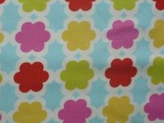 Baumwolle USA Designerstoff - Retroblumen