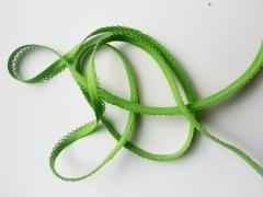 Schrägband Häkelkante, 14 mm, hellgrün
