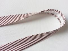Gestreiftes Schrägband, braun-weiß
