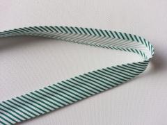 Gestreiftes Schrägband, grün-weiß