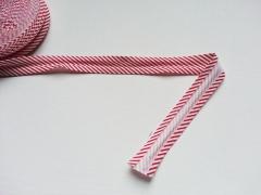 Gestreiftes Schrägband, rot-weiß