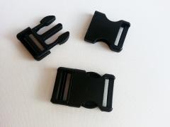 Steckschnalle 2,5 cm (25mm), schwarz