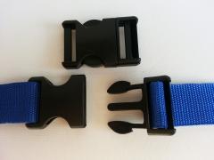 Steckschnalle 3 cm (30mm), schwarz