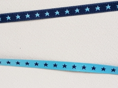Sternchenband 7mm-hellblau/marine