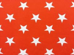 Vincente weisse Sterne 4,5 cm auf orange