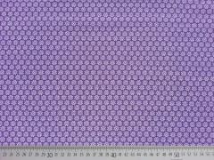 Baumwolle Streublümchen - lila/weiss