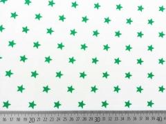 Sweat Sterne 1 cm, grün auf weiss