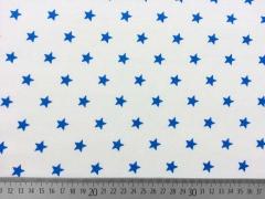 Sweat Sterne 1 cm, royalblau auf weiss