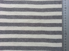 RESTSTÜCK 86 cm Sweat Streifen 2 cm - grau/ecrue melange