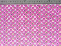 Baumwollstoff Tante Ema Blümchen, grün lila rosa