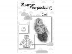 Schnittmuster Zwergenverpackung Blouson & Mütze Carli Farbenmix