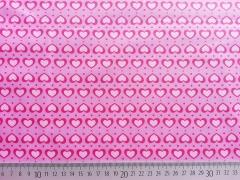 RESTSTÜCK 37 cm beschichtete Baumwolle Herzen, pink rosa