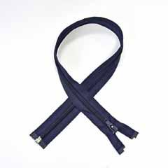 Reißverschluss teilbar 50 cm, dunkelblau