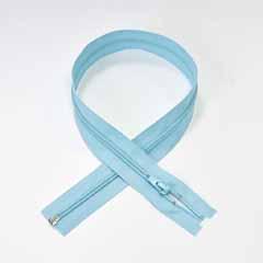 Reißverschluss teilbar 65 cm, eisblau