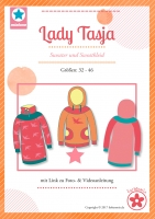Lady Tasja Hoodie und Kleid Papierschnittmuster
