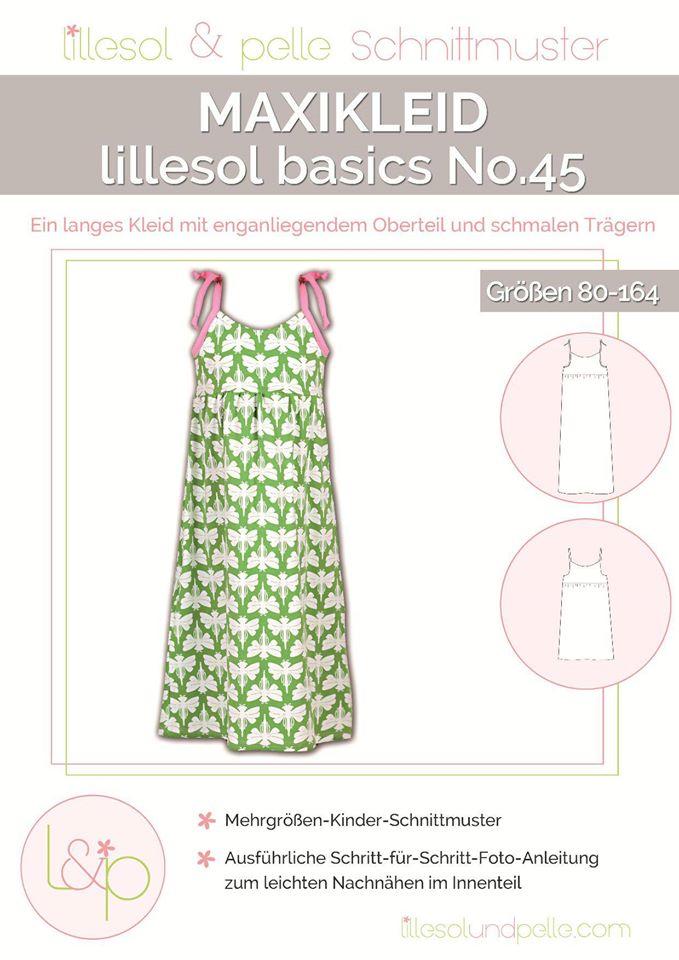 Lillesol Basics No.45 Maxikleid Schnittmuster - Wunderland der ...