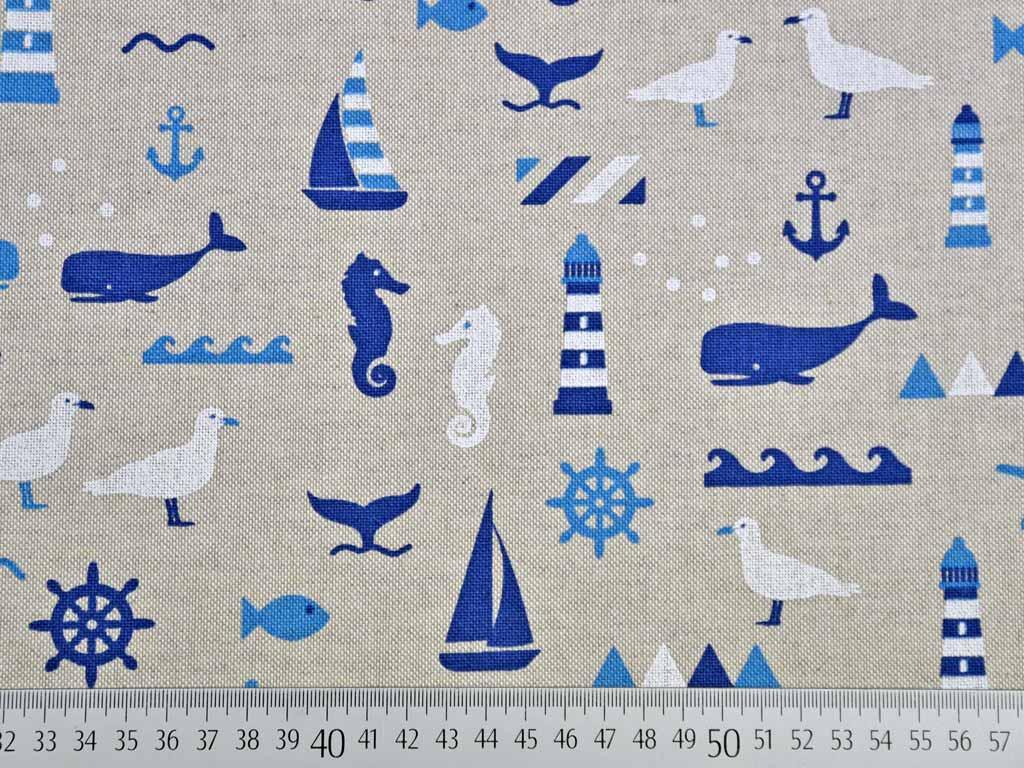 Maritime Stoffe maritime stoffe marine u blau dekostoff beachcomber periwinkle