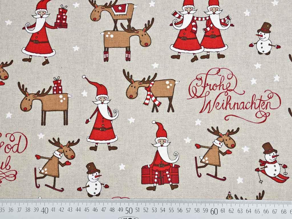 Frohe Weihnachten Aus Deutschland.Leinenlook Frohe Weihnachten Wunderland Der Stoffe